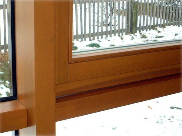 Fenster Verkleiden Aluprofile Amazing Tre In Holzdekor Verkleidet